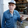 """Harvey Price, 93, talked about making cider for 80 years. Called a """"legendary beverage in Lunenburg"""" he makes it with a press that is over 100 years old. SENTINEL & ENTERPRISE/JOHN LOVE"""