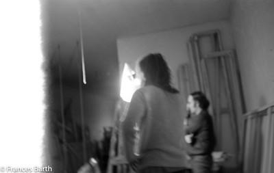 Frances B and Harvey in Grand St.studio 1971