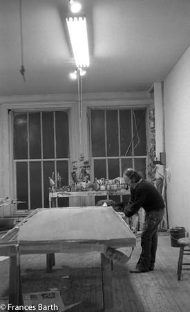 Harvey in the 231 Bowery studio