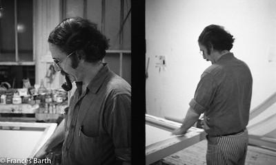 Harvey stretching canvas 1969 Grand St.
