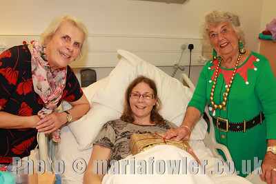 PICTURED: Sheena Parsons (Hon. Secretary, Harwich & District Fellowship for the Sick) patient Tracey Wells and Betty Holbrook (Vice Chairlady, Harwich & District Fellowship for the sick)