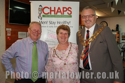 Prof Chris Booth (CHAPS) Mayoress of Harwich Mrs Carol Brown and Mayor of Harwich Cllr John Brown.