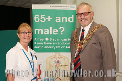 Corinne Laverty (AAA Screening Technician) and Mayor of Harwich Cllr John Brown.