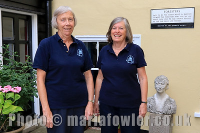 Gardeners - Marion Ball and Jacky Whittle. Harwich Society HQ 'Foresters' Church Street.