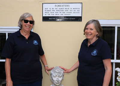 06 JUL 2019 – Harwich Secret Gardens – Foresters, Church Street – Harwich Society gardeners, Marion Ball and Jacky Whittle - Photo Copyright © Maria Fowler 2019