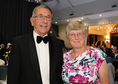 05 OCT 2019 – PICTURED: Colin Farnell (Chairman) and Aileen Farnell (Membership Secretary) - The Harwich Society's 50th Anniversary Dinner at the Waterfront, Dovercourt – Photo Copyright © Maria Fowler 2019