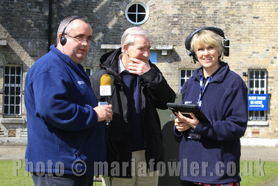 'The Essex Quest' at Harwich Redoubt Fort.    Liana Bridges, and Mike Kelly (BBC Radio Essex)  Bernie Sadler (Harwich Society)    Further information contact the Harwich Society Press Officer: Garry Calver 01255-551940 Email - garrycalver@btinternet.com