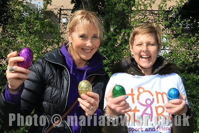 13 APR 2019 – Pictured: Gina Lay and Sharon Cook (Home-Start Harwich) Mayoress' Bunny Hunt at Bobbit's Hole. Photo Copyright © Maria Fowler 2019