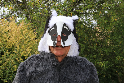 04 AUG 2019 – Pictured: Mr. Badger AKA Colin Farnell, Chairman, Harwich Society - Bobbit's Hole Open Day & Charity Stroll – Photo Copyright © Maria Fowler 2019