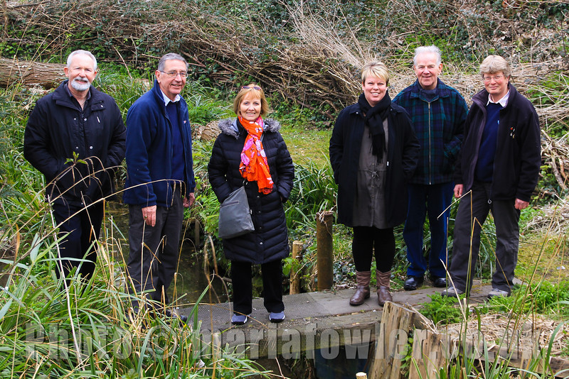 Town Councillors Visit Bobbit's Hole Nature Reserve.L-R: Cllr. Dave McLeod, Colin Farnell (Harwich Society Chairman) Cllr .Dee King, Cllr. Jo Henderson, Cllr. Alan Todd, Aileen Farnell (Harwich Society Membership Secretary) Cllr. Maria Fowler (Other side of the lens)
