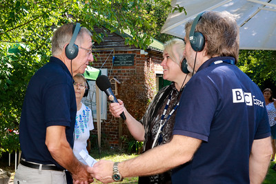 05 AUG 2018 - L-R: Colin Farnell (Harwich Society Chairman) Elaine Symonds (Hedgehog Haven Essex) , Liana Bridges (BBC Essex) and Barry Lewis (BBC Essex)  - Harwich Society Bobbit's Hole Open Day and Charity Stroll - Photo Copyright © Maria Fowler 2018
