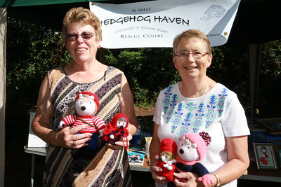 05 AUG 2018 – L-R: Pauline Green and Elaine Symonds (Hedgehog Haven Rescue Centre) Harwich Society Bobbit's Hole Open Day and Charity Stroll - Photo Copyright © Maria Fowler 2018