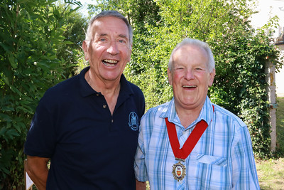 05 AUG 2018 – L-R: Colin Farnell (Harwich Society Chairman) and Deputy Mayor of Harwich Cllr. Alan Todd - Harwich Society Bobbit's Hole Open Day and Charity Stroll - Photo Copyright © Maria Fowler 2018