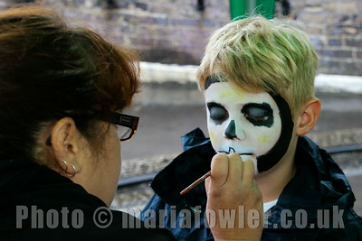 Face painter Katie Dorchester and Ronnie.