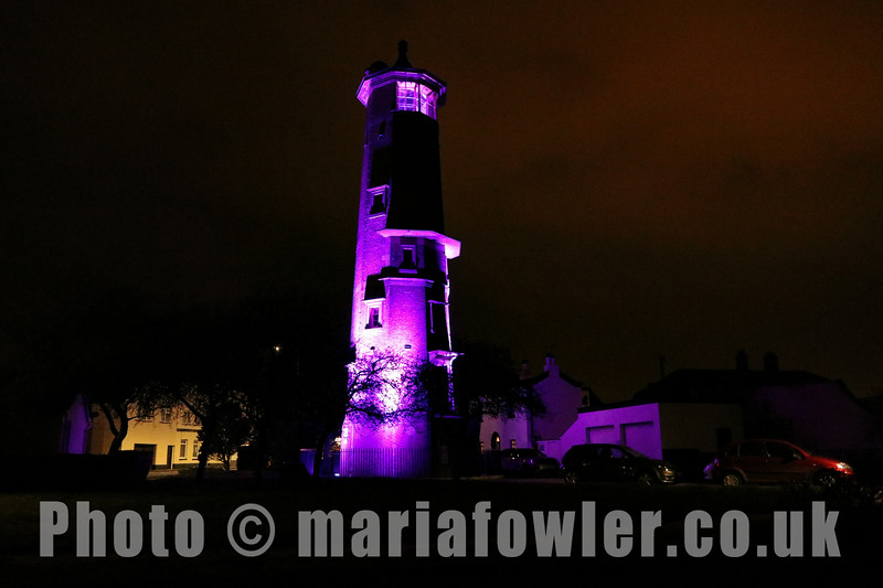 """20 MAR 2021 Harwich High Lighthouse, Census 2021 'Light Up Purple' – Photo Copyright © Maria Fowler 2021<br /> <br /> PRESS RELEASE:<br /> Harwich High Lighthouse goes purple in celebration of Census 2021<br /> <br /> Harwich High Lighthouse joined more than a hundred buildings and landmarks across England and Wales by lighting up purple to celebrate the upcoming census and its importance to communities. <br /> <br /> The event was organised by The Office for National Statistics (ONS) to raise awareness of the census, a survey that happens every ten years and gives a picture of all the people and households in England and Wales. <br /> <br /> Other iconic landmarks included the Wales Millennium Centre in Cardiff, BT Tower in London and Blackpool Tower which took part in the celebration, seeing them light up in the Census 2021 brand colour from Friday March 19 through to March 21.<br /> <br /> The census helps inform the provision of public services throughout the UK, such as determining the appropriate number of school places and hospital beds that are needed to properly serve their communities. <br /> <br /> Pete Benton, ONS Director of Census Operations, commented: <br /> <br /> """"The census is such an important undertaking that helps inform the vital services we all rely on every single day within our communities. <br /> <br /> """"We wanted to shine a (purple!) light on the buildings and landmarks that matter most to their local areas, highlighting the importance of the census in helping shape the communities we live in. <br /> <br /> """"We're thrilled with all the support we have received so far and would like to thank Harwich for their participation. Now is the time for everyone to complete their census and be part of history"""" <br /> <br /> Every household in England and Wales should have received their census letters with unique access codes enabling them to fill in their census online.  Paper forms are available for those who need it, plus a range of other support"""