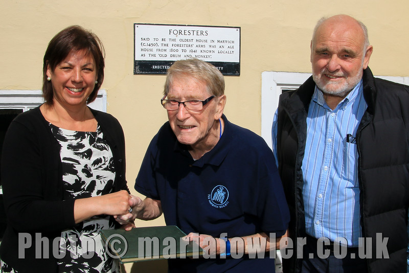 New secretary for Harwich Society - Pictured Christine Hillion, Andy Rutter, David Whittle