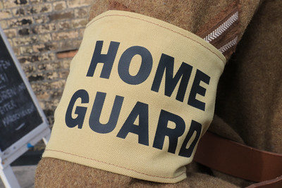 12 SEP 2021 – PICTURED: Home Guard armband - Harwich Redoubt Fort - Heritage Open Days weekend - Photo Copyright © Maria Fowler 2021