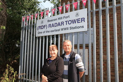 12 SEP 2021 – PICTURED: Julie and Peter Appleton - RDF Radar Tower - Heritage Open Days weekend - Photo Copyright © Maria Fowler 2021