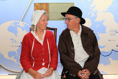 11 SEP 2021 – PICTURED: 17th century folk, Harwich Society volunteers, Maggie and Andy Schooler - Christopher Jones House – Heritage Open Days weekend - Photo Copyright © Maria Fowler 2021