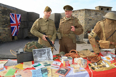 12 SEP 2021 – PICTURED: WW2 Reenactors, Grant Harris and Simon Todd (Home Guard) - Harwich Redoubt Fort - Heritage Open Days weekend - Photo Copyright © Maria Fowler 2021