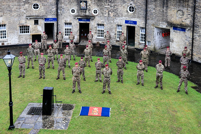 18 JUN 2021 - G Battery, 7th Parachute Regiment Royal Horse Artillery, Battery birthday, Waterloo Day at Harwich Redoubt Fort. Photo © Maria Fowler 2021