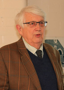 26 OCT 2019 – PICTURED: Geoffrey Hare (Chairman, Victoria County History of Essex Trust) - Harwich Society History Fair – 1912 Centre – Photo Copyright © Maria Fowler 2019