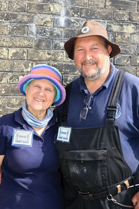 12 SEP 2020 – Pictured: Christine and John Theobald (Harwich Society Redoubt volunteers) - Harwich Redoubt Fort – Heritage Open Days – Photo Copyright © Maria Fowler 2020