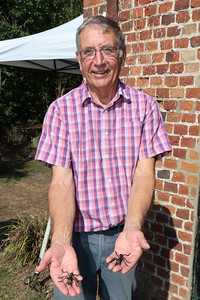 13 SEP 2020 – Pictured: Colin Farnell (Harwich Society Chairman) - Bobbit's Hole Nature Reserve – Heritage Open Days – Photo Copyright © Maria Fowler 2020