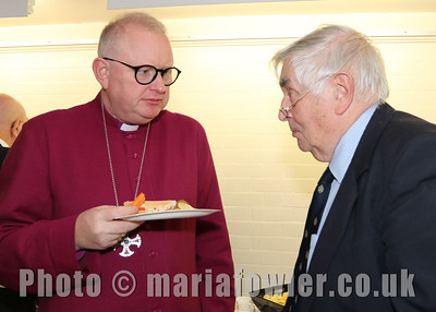 18 OCT 2019 - Right Rev Roger Morris, Bishop of Colchester and Colin Crawford, Vice President, Harwich Society - Harwich Society 50th Anniversary Civic Service – Photo Copyright © Maria Fowler 2019