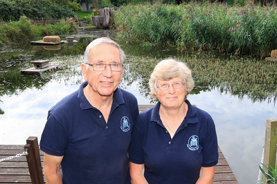 12 SEP 2021 – PICTURED: Harwich Society Chairman, Colin Farnell, and Aileen Farnell – Bobbit's Hole Nature Reserve - Heritage Open Days weekend - Photo Copyright © Maria Fowler 2021