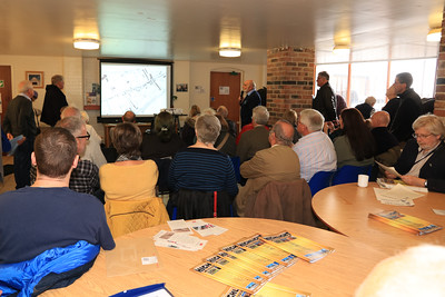 26 OCT 2019 – Illustrated talk by Harwich Society's Vice Chairman David Whittle titled 'How the Victorians' developed Dovercourt' - Harwich Society History Fair – 1912 Centre – Photo Copyright © Maria Fowler 2019