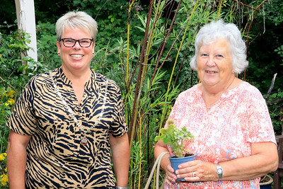 01 AUG 2021 – PICTURED: Cllr. Jo Henderson (Mayoress of Harwich) and Deidre Salter - Bobbit's Hole Open Day & Charity Stroll – Photo Copyright © Maria Fowler 2021