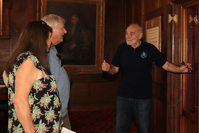 11 SEP 2021 – PICTURED: Harwich Society Vice Chairman, David Whittle – The Guildhall – Heritage Open Days weekend - Photo Copyright © Maria Fowler 2021