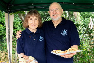 01 AUG 2021 – PICTURED: Harwich Society volunteers, Joanna & Richard Brennan - Bobbit's Hole Open Day & Charity Stroll – Photo Copyright © Maria Fowler 2021