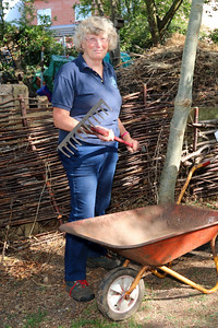 13 SEP 2020 – Pictured; Aileen Farnell (Harwich Society Membership Secretary) Bobbit's Hole Nature Reserve – Heritage Open Days – Photo Copyright © Maria Fowler 2020