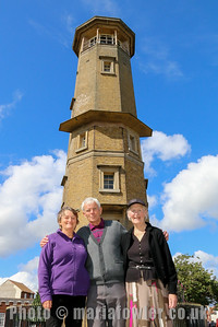 Harwich Society's Lighthouse Keeper Sue Daish with Brian and Hazel Anderson