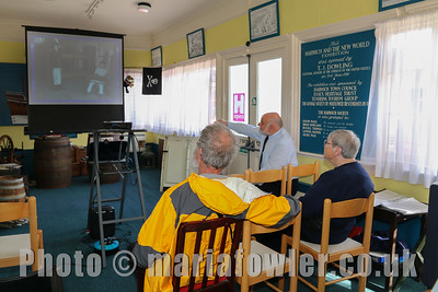 Harwich Society's David Whittle, local history slideshow  presentation at the Ha'Penny Pier Visitors Centre