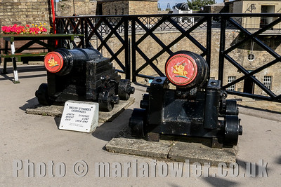English 12 Pounder Carronades at the Harwich Redoubt Fort