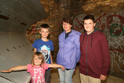 Nieve, Ryan, Denise and Kieran Sharod from Harwich at the Radar Tower