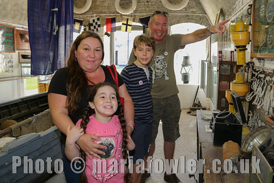 Tyrie family from Weeley,  Caitlyn age 7, Harvey age 10, mum Donna and dad Dave at Harwich Redoubt Fort