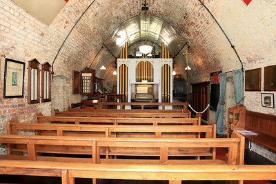 12 SEP 2020 – Historic organ from St. Paul's church, Parkeston - Harwich Redoubt Fort – Heritage Open Days – Photo Copyright © Maria Fowler 2020