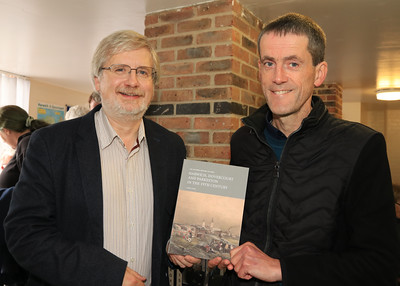 26 OCT 2019 – PICTURED L-R: Chris Thornton (County Editor, Victoria County History of Essex) and Andrew Senter, author 'The Victoria History of Essex: Harwich, Dovercourt and Parkeston in the 19th Century' - Harwich Society History Fair – 1912 Centre – Photo Copyright © Maria Fowler 2019