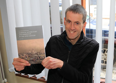 26 OCT 2019 – PICTURED: Andrew Senter, author 'The Victoria History of Essex: Harwich, Dovercourt and Parkeston in the 19th Century' - Harwich Society History Fair – 1912 Centre – Photo Copyright © Maria Fowler 2019