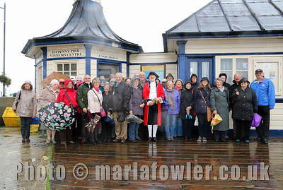 Rayleigh Town Museum group at Ha'Penny Pier with Town Crier James Cole
