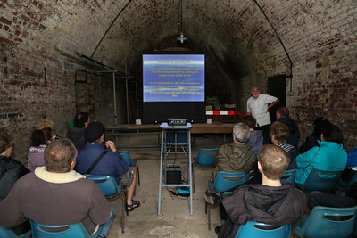 David Whittle pulled the crowds in with his talk on the history of the Redoubt Fort