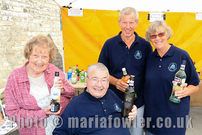 Manning the 'Bottle Stall' Harwich Society volunteers Dorothy Mallinson, Tom Mallinson, Barry Sharp, Pauline Sharp.