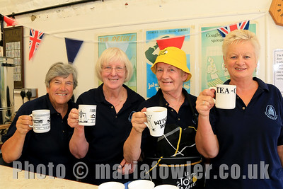 The Harwich Society's Social Group members Janet Thomas, Chris Mackie, Anna Rendell-Knights and Rose Rosier.