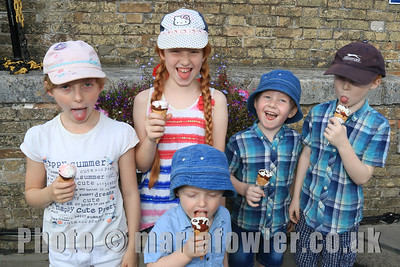 Ice Cream! The Wilcock-Mead family, Becca, (age 8) Lucy, (age 9) Charlie, (age 6) Jamie (age 5) and Jack ( age 2)