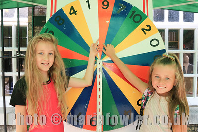 Wheel of Fortune with Ruby Ruffle age 11 and Lorna Coombs age 7.