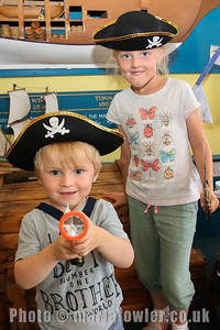Pirates Stuart Barry (age 2) and Katy Barry (age 7)